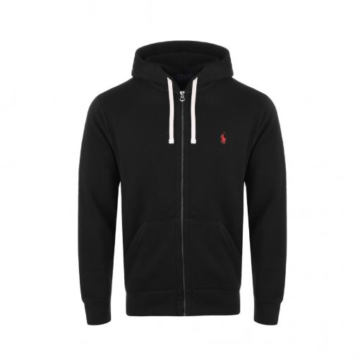 ralph lauren hoodie black zip up