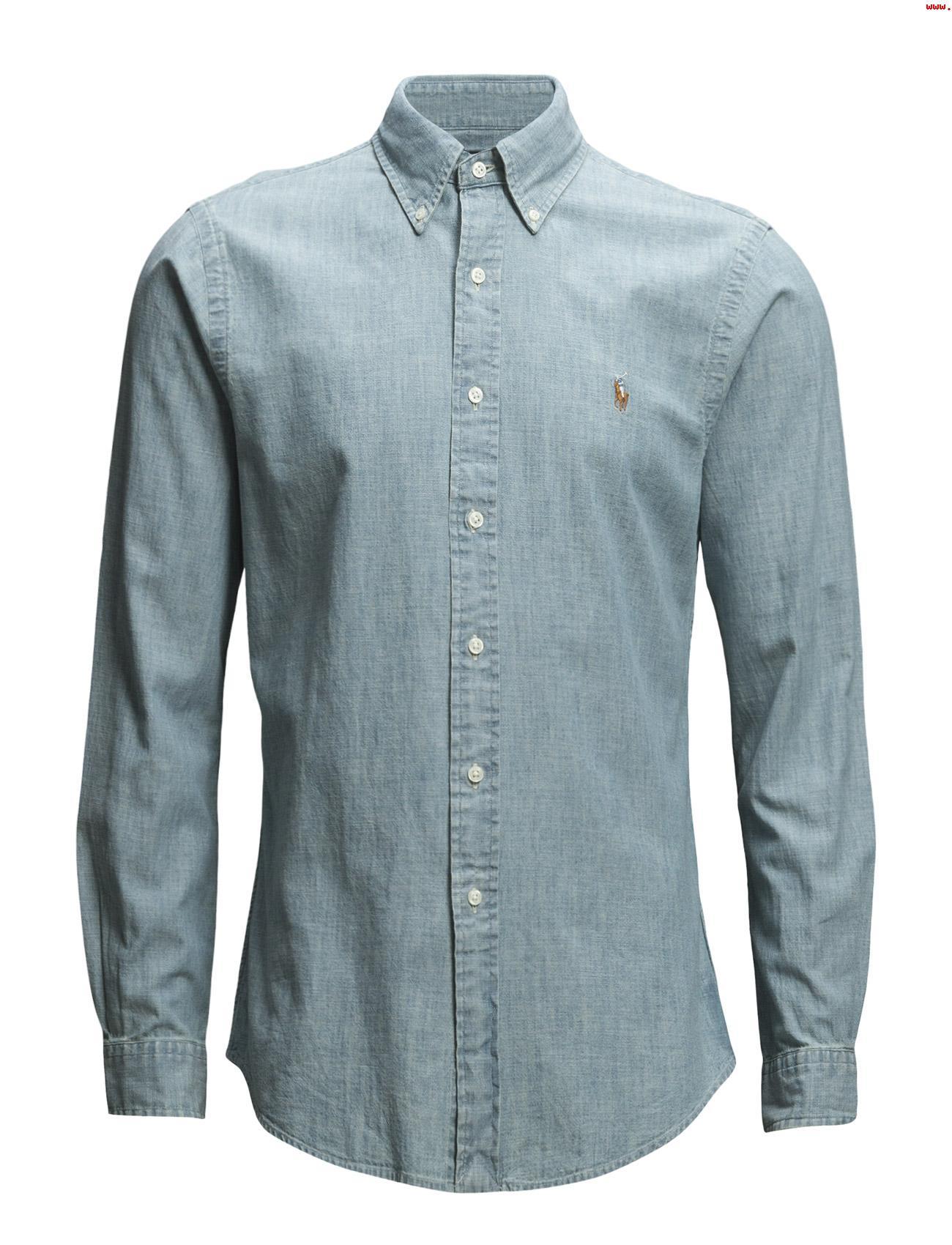 6f090f883d2c Ralph Lauren Casual Denim Shirt. Slim Fit in Light Wash - INTOTO7