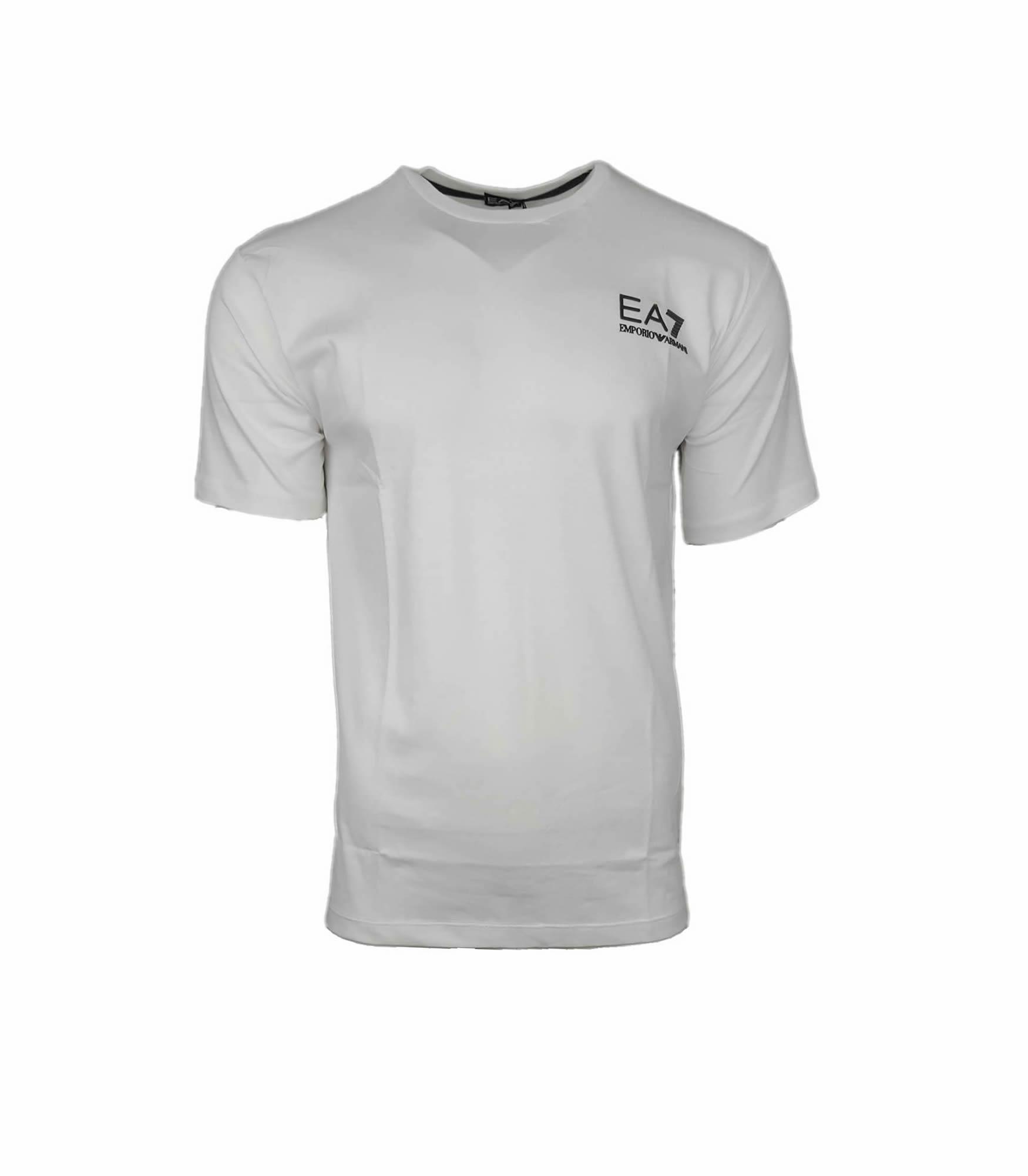 8a51cf5d EA7 Emporio Armani Mens Crew T Shirt. Rubberised Logo in White | INTOTO7  Menswear