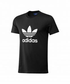 Adidas Printed Crew T Shirt. Short Sleeve in Black