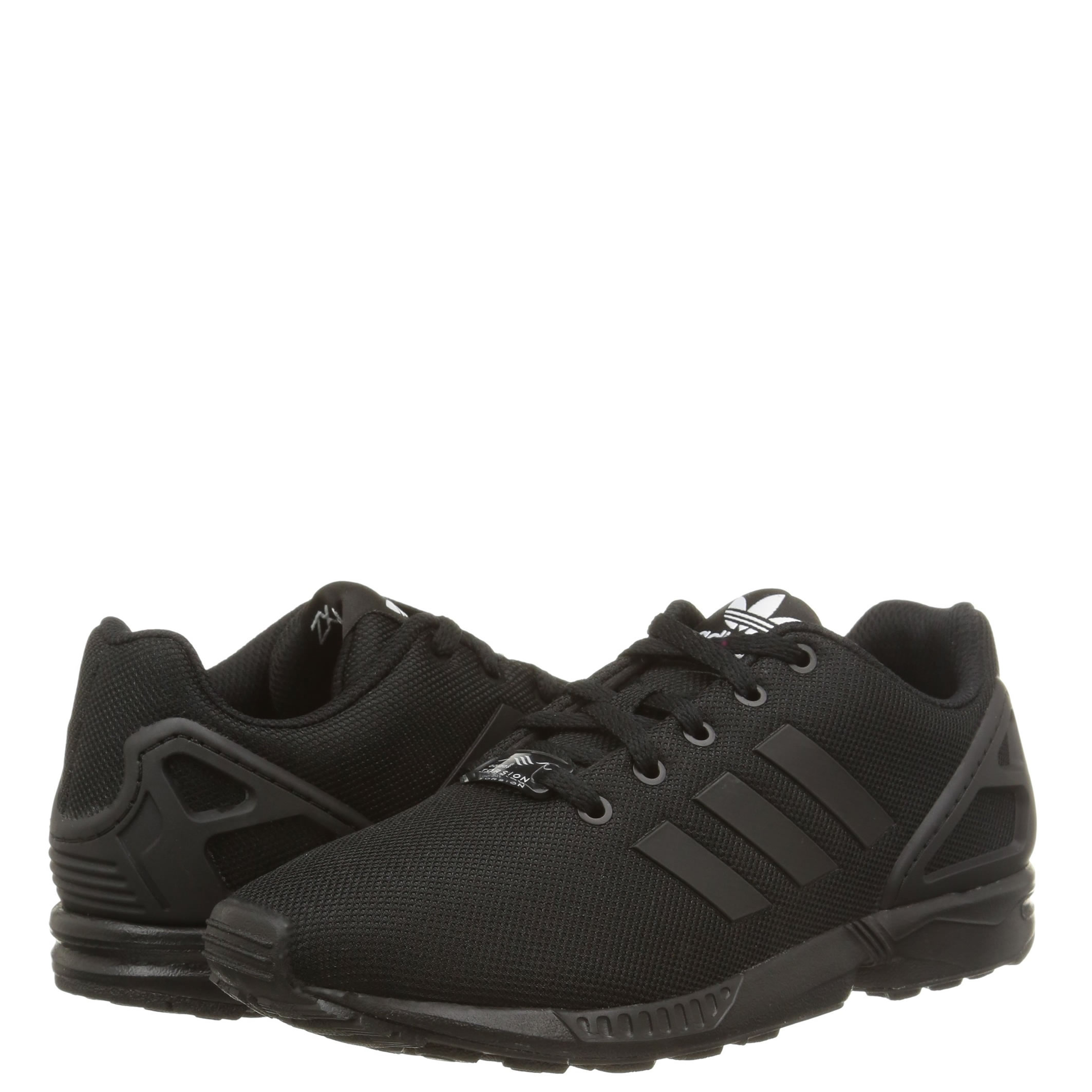 008f55ae0cc6 Adidas ZX Flux Low-Top Trainers in Black Black Black