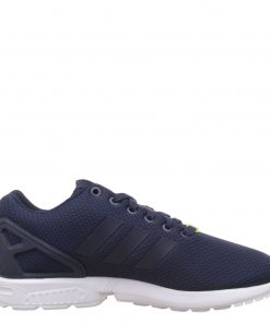 Adidas ZX Flux trainers Navy Side