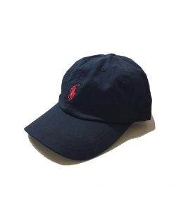 Ralph Lauren Sports Baseball Cap in Black With Red Small Pony Black. Small Red Pony