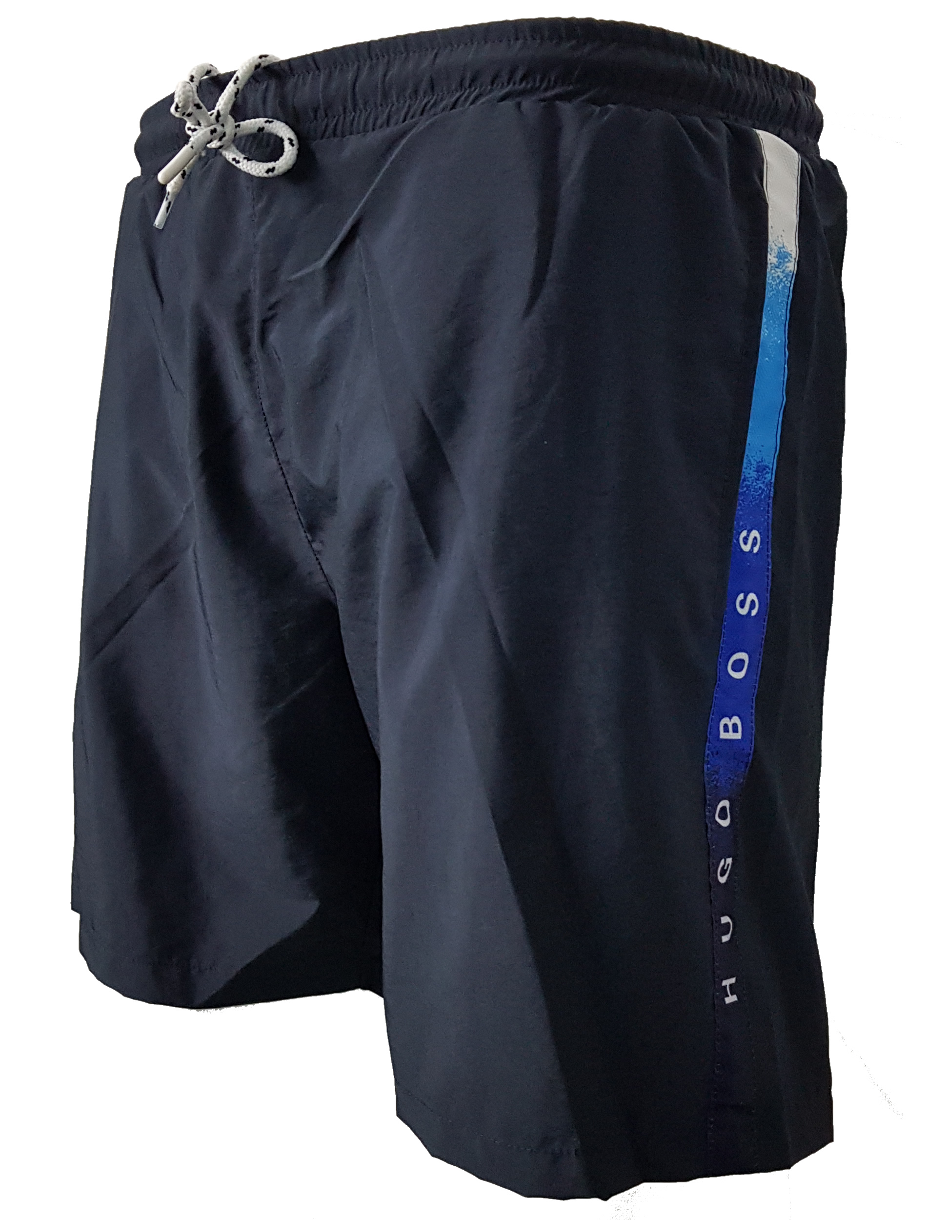 f833c8911 Hugo Boss Polyester Swim Shorts in Navy Blue | INTOTO7 Menswear