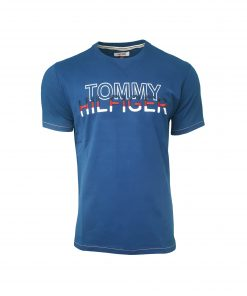 Tommy Hilfiger - Men's Crew T Shirt. Short Sleeve. Embroidered Chest INDIGO