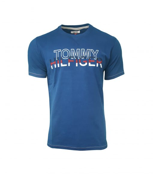 Tommy Hilfiger - Men's Crew T Shirt. Short Sleeve. Embroidered Chest INDIGO