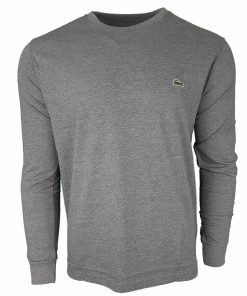 Lacoste Long Sleeve Crew T-Shirt in Grey
