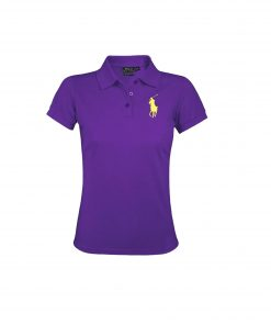 Ralph Lauren Women's Polo Shirt Big Pony. The Skinny Polo in PURPLE