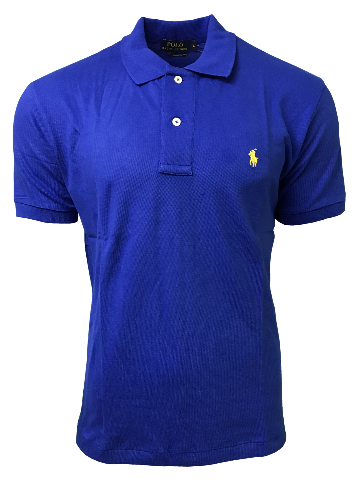 1bef11ba Ralph Lauren Short Sleeve Polo Shirt. Custom Fit in Royal Blue ...