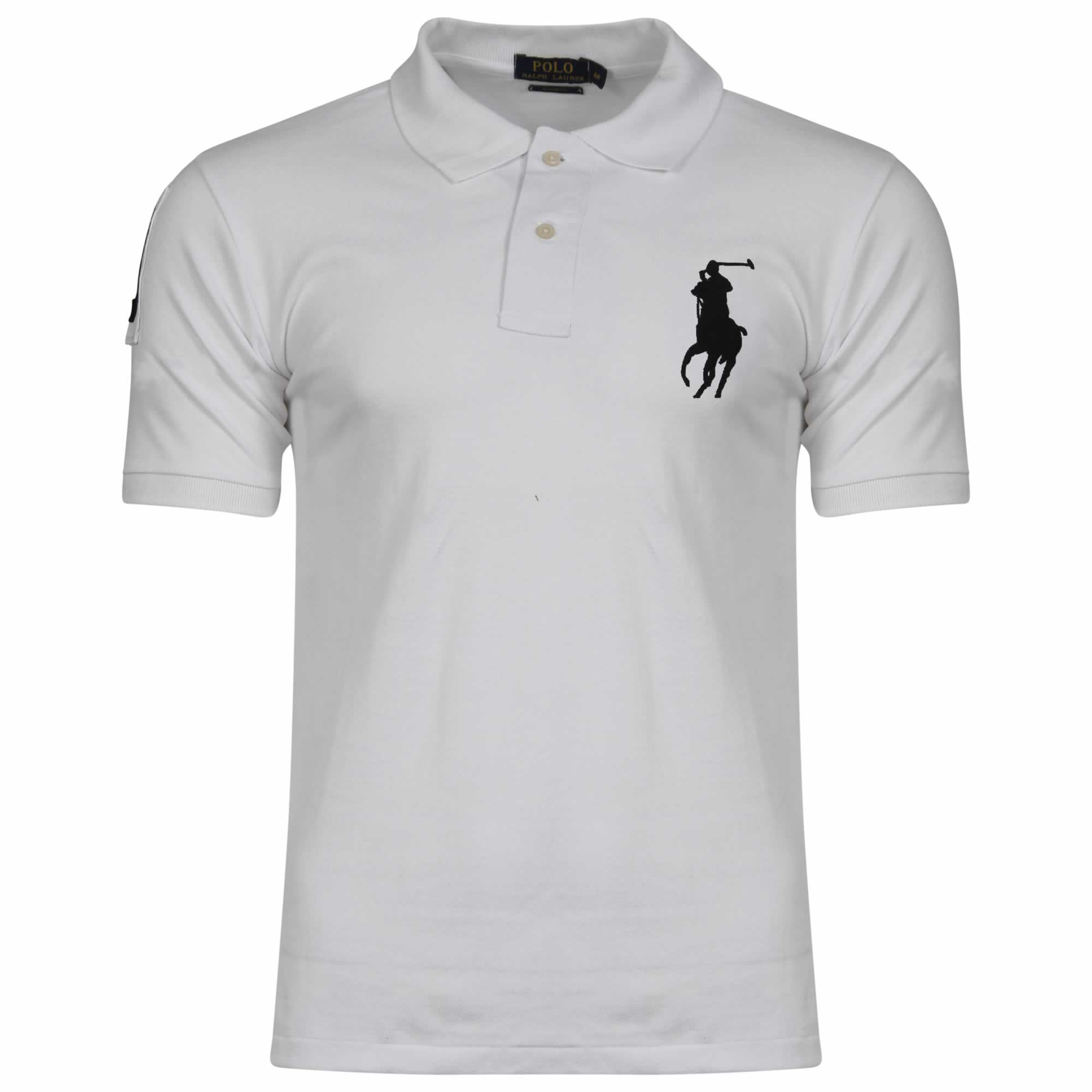 ab046fe8 Ralph Lauren Short Sleeve Big Pony. Polo Shirt. Custom Fit in White ...