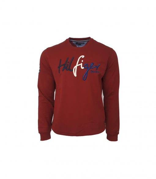 Tommy Hilfiger Signature Embroidery Sweatshirt in maroon