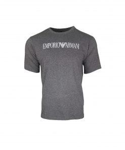 Emporio Armani Men's Printed Crew T Shirt. Short Sleeve