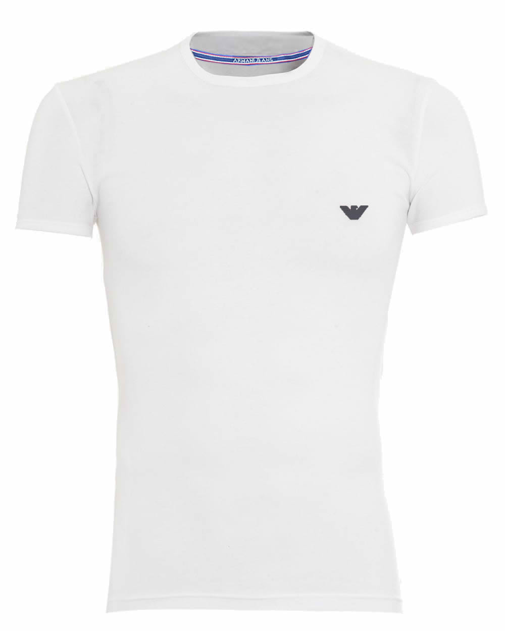 68dd663c391f Armani Jeans Short Sleeve Crew T-Shirt. Small Eagle in White ...