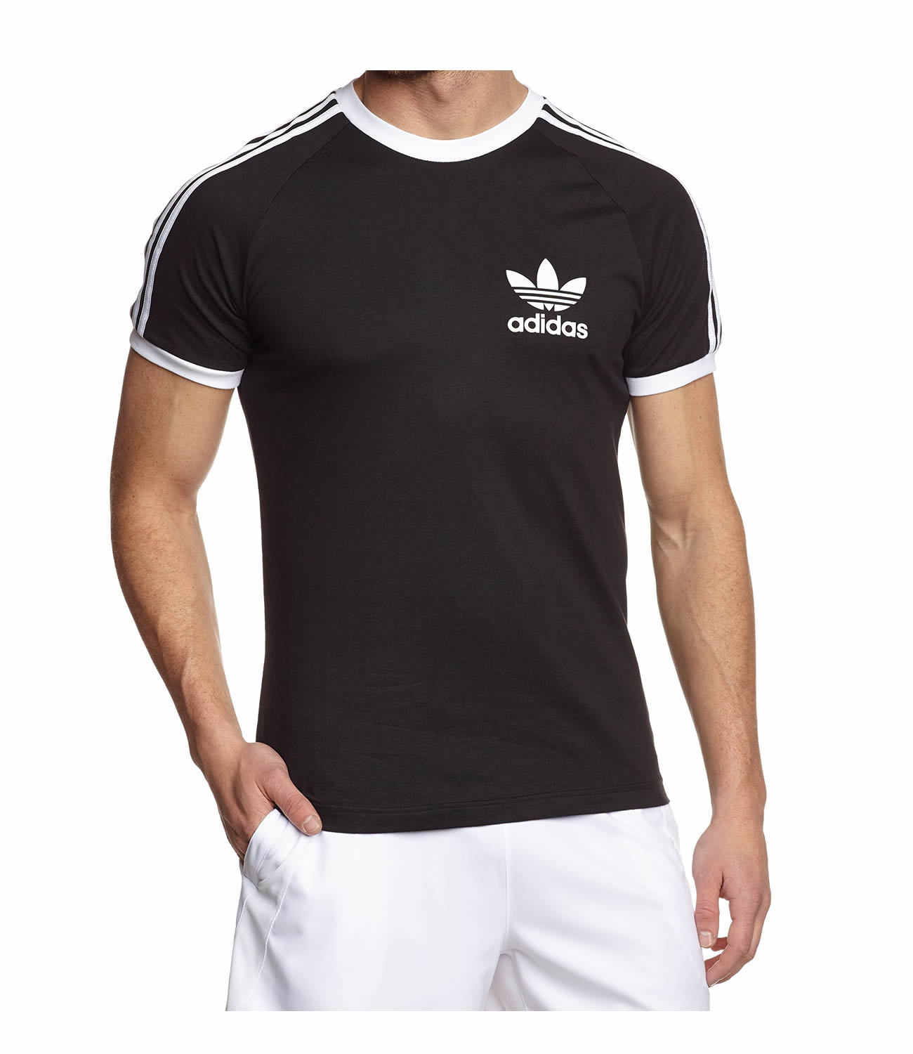 cute best selling united states Adidas Originals Sport Essential California Crew T Shirt. Short Sleeve in  Black