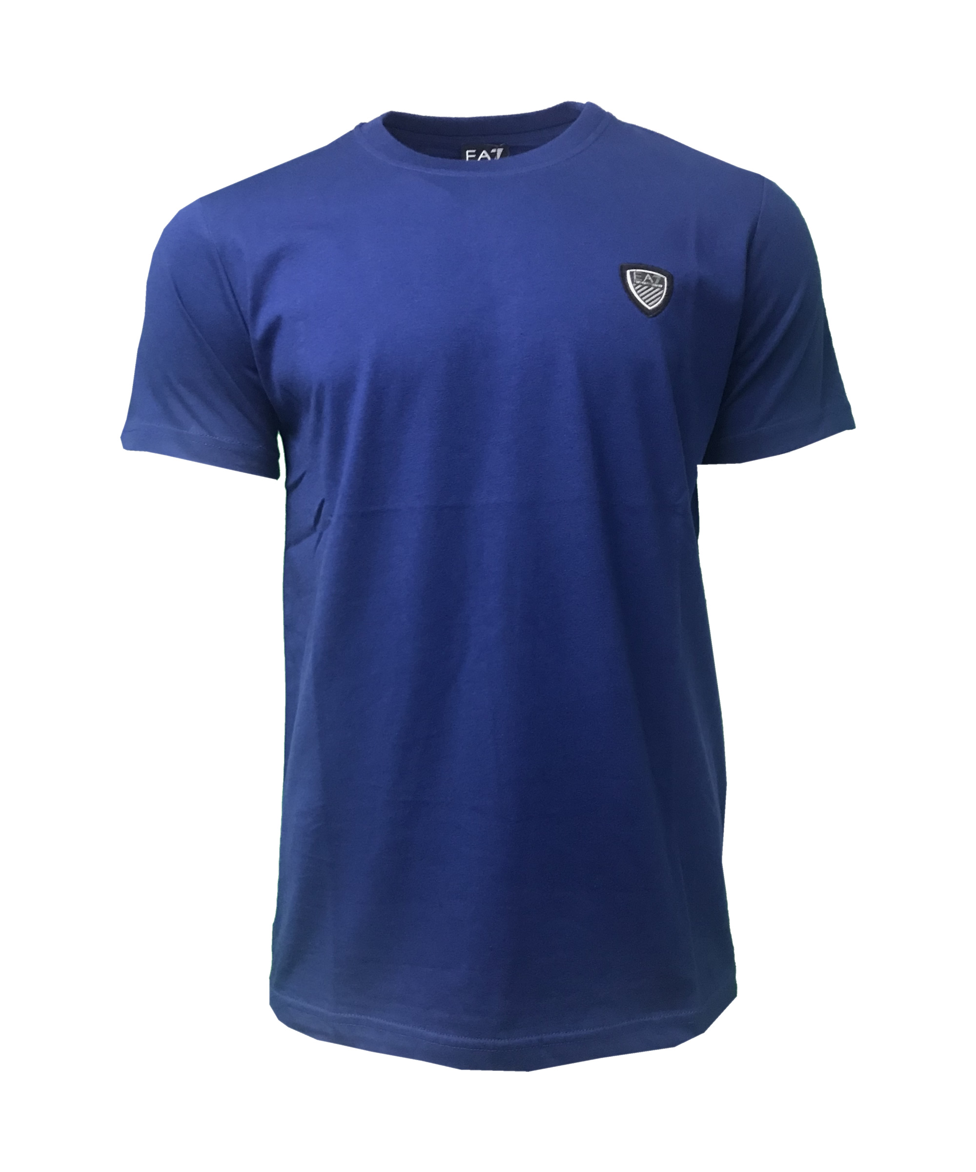 da883e3ea81 EA7 Emporio Armani Mens Crew Shield T Shirt. Short Sleeve in Indigo Blue