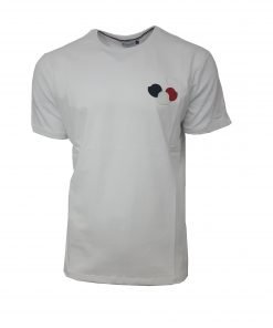 MONCLER CREW 3BELLS T SHIRT IN WHITE