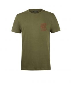 Balmain Crew-T Shirt in Khaki