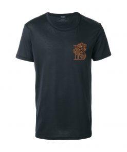 Balmain Crew-T Shirt in Navy