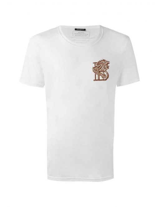 Balmain Crew-T Shirt in White