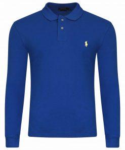 INTOTO7-Ralph-Lauren-Polo-Long-Sleeve-TShirt-Royal-Blue Yellow-Pony