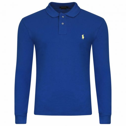 INTOTO7-Ralph-Lauren-Polo-Long-Sleeve-TShirt-Royal-Blue Yellow-Pony