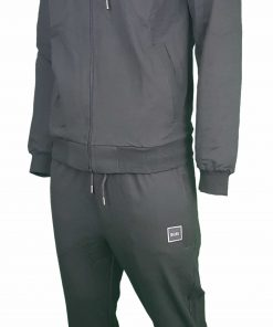 Hugo Boss Pavlik Tracksuit Top Jacket & Bottoms with Contrast Logo in Black