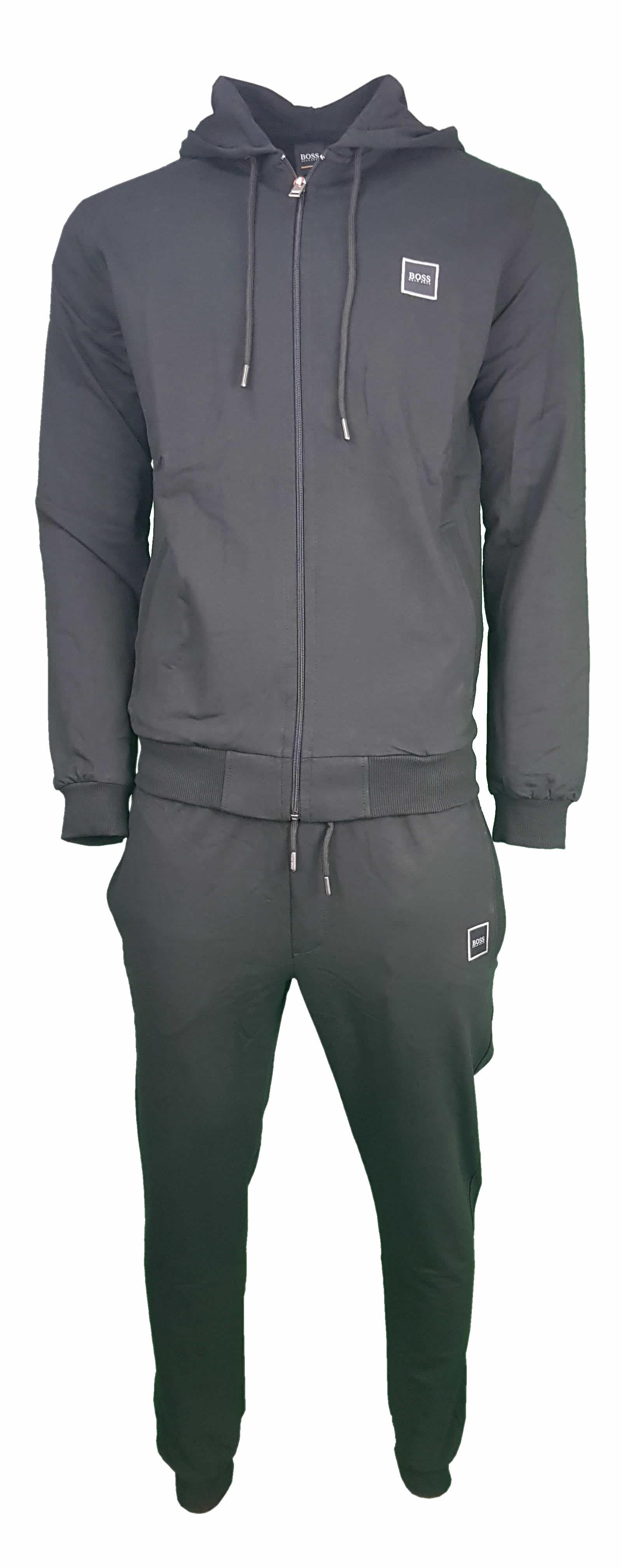 aaa9f2b2e Hugo Boss Pavlik Tracksuit Top Jacket & Bottoms with Contrast Logo in Black
