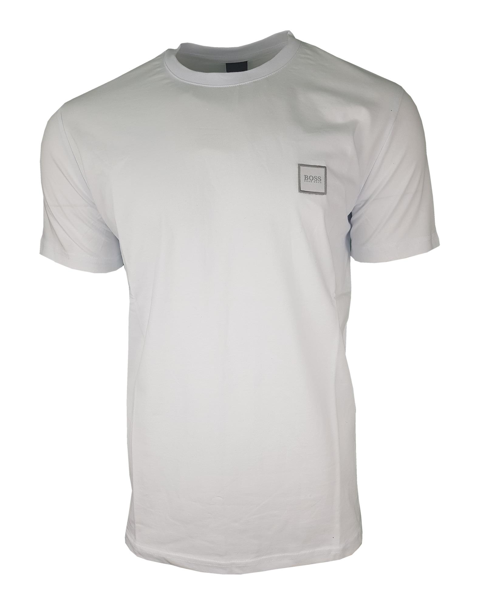 ec604818 Hugo Boss Pavlik. Short Sleeve Crew T-Shirt Contrast Logo in White ...