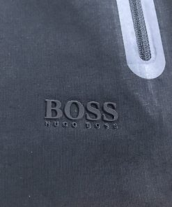 Hugo Boss Cotton Athleisure Jogger Shorts in Navy Blue