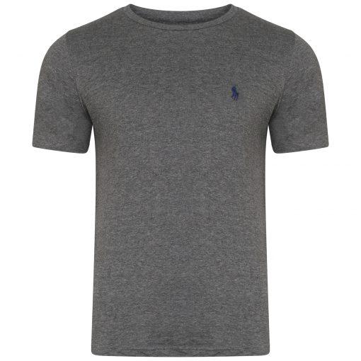 Ralph Lauren Short Sleeve Crew T-Shirt. Custom Fit in Dark Grey