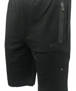 Hugo Boss Cotton Athleisure Jogger Shorts in Black