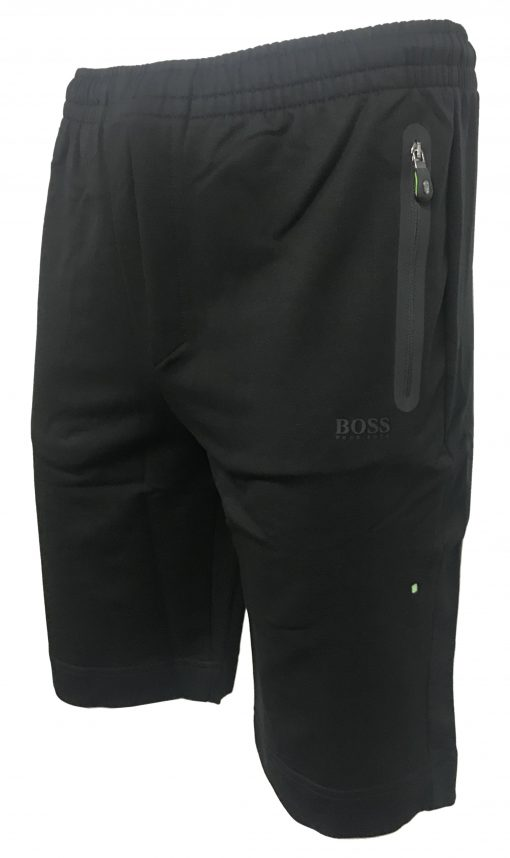 Hugo Boss Cotton Athleisure Jogger Shorts in Black