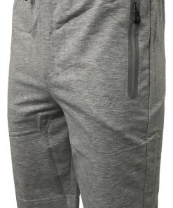 Hugo Boss Cotton Athleisure Jogger Shorts in Light Grey