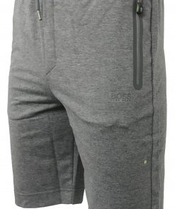 Hugo Boss Cotton Athleisure Jogger Shorts in Dark Grey