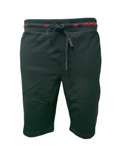 Givenchy Capri Logo Shorts in Black Front