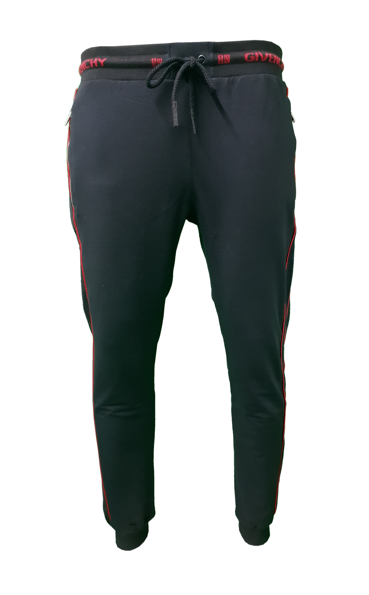 59cdbad31e7dd Givenchy Men s Complete 2 Piece Top and Bottoms Tracksuit in Black Red -  Bottoms Front