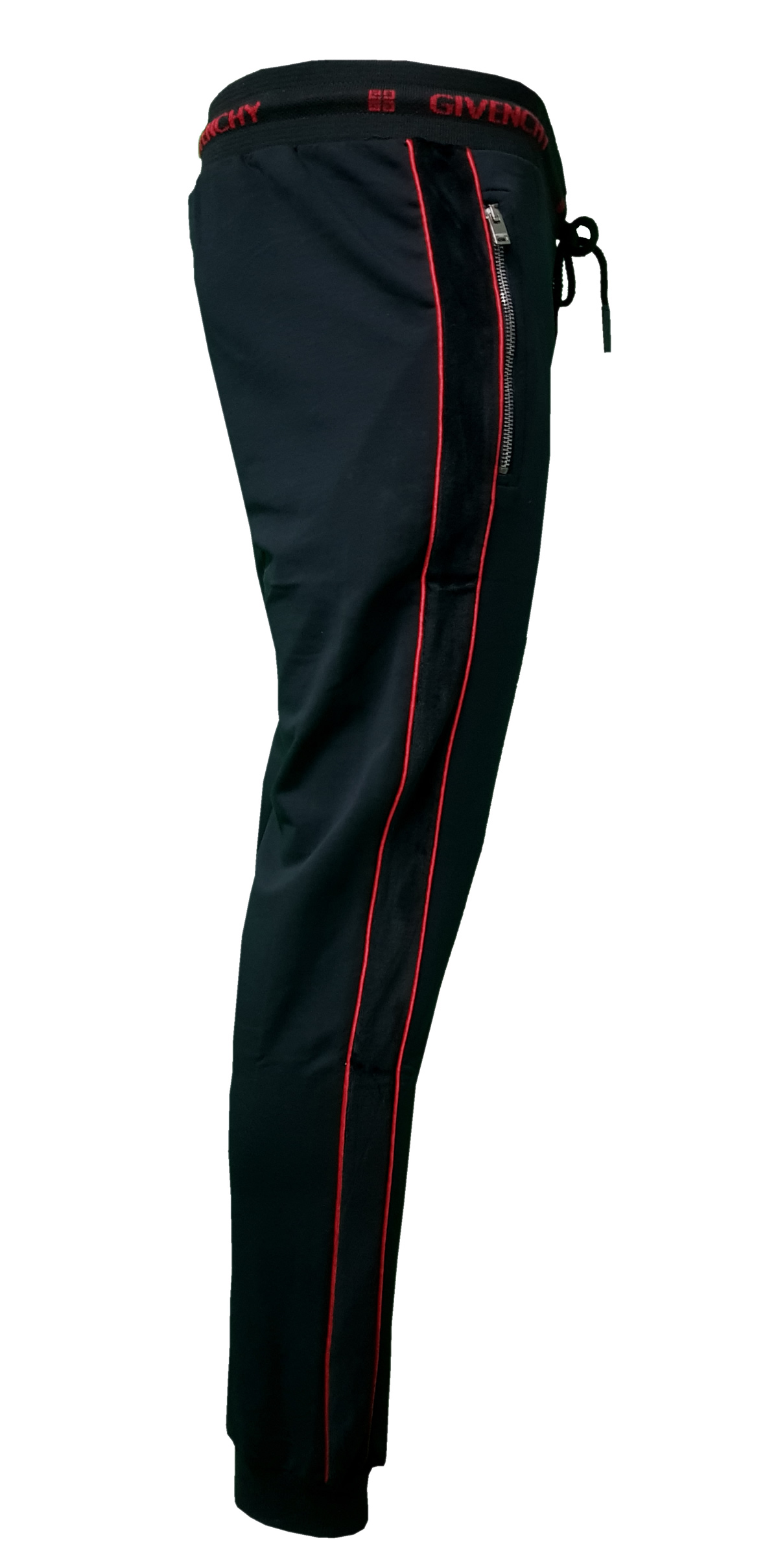a5c7a2240cb2a Givenchy Men s Complete 2 Piece Top and Bottoms Tracksuit in Black Red -  Bottoms Right