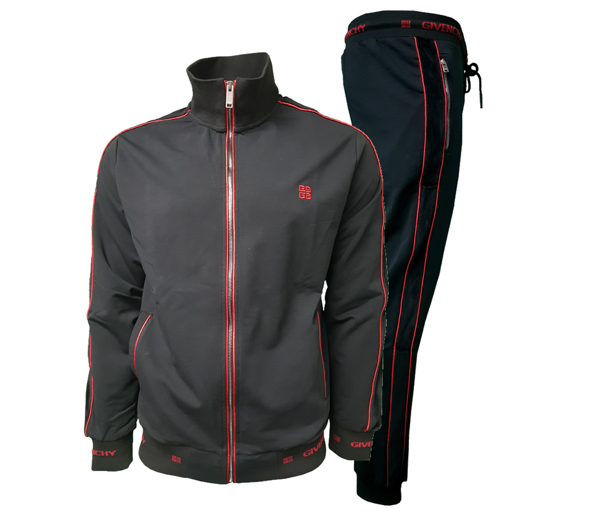 30a78251ee397 Givenchy Men s Complete 2 Piece Top and Bottoms Tracksuit in Black Red -  SideBySide