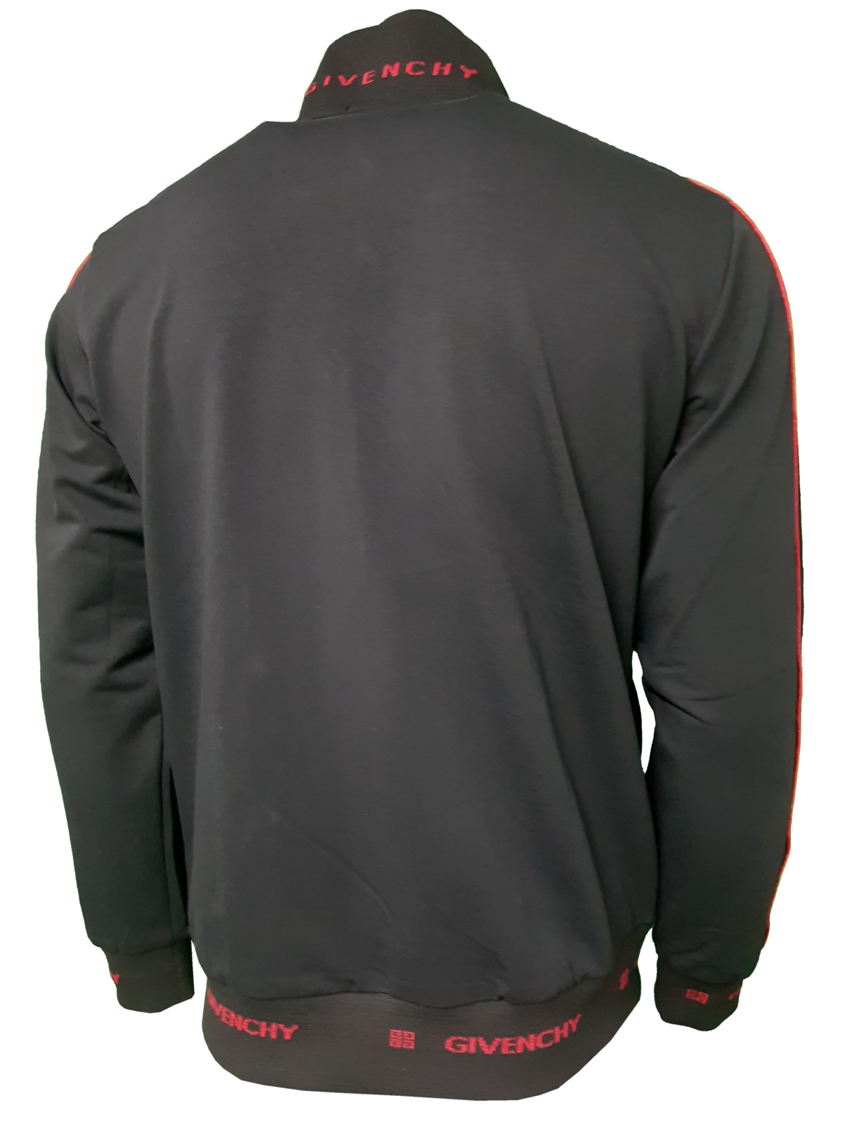 4e30ed5eb9aa8 Givenchy Men s Complete 2 Piece Top and Bottoms Tracksuit in Black Red - Top  Rear