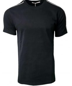 Givenchy Short Sleeve Crew T Shirt. Shoulder Print Black Front