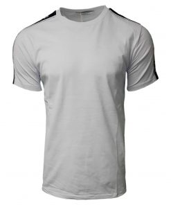 Givenchy Short Sleeve Crew T Shirt. Shoulder Print White Front