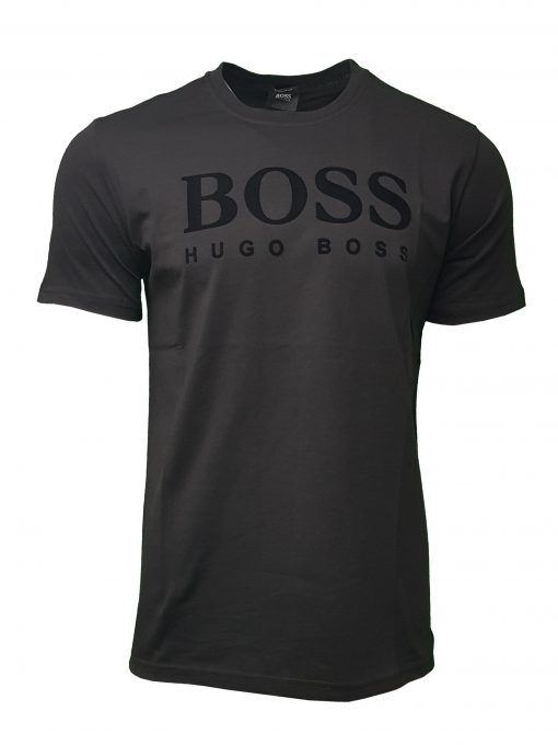 Hugo Boss Flock Short Sleeve Crew Black