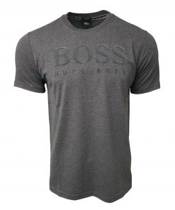 Hugo Boss Flock Short Sleeve Crew Grey