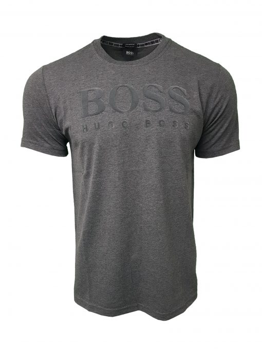 Hugo Boss Flock Short Sleeve Crew Grey