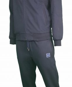 Hugo Boss Pavlik Tracksuit Top Jacket & Bottoms with Contrast Logo in Navy Blue