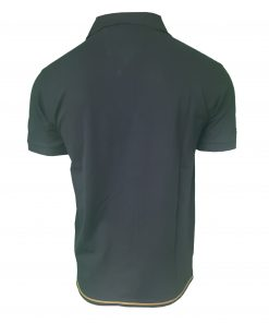 Hugo Boss Polo Shirt. Short Sleeve with Golden Placket in Navy Blue Rear