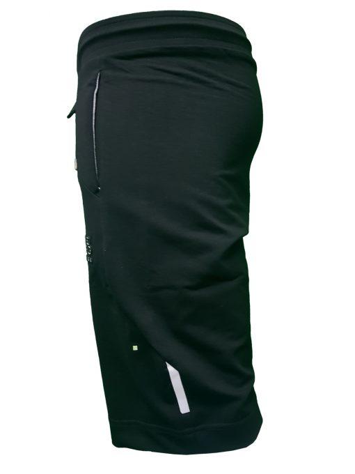 Hugo Boss Tech Jersey Capri Embossed Lined Shorts Black Left Side Black