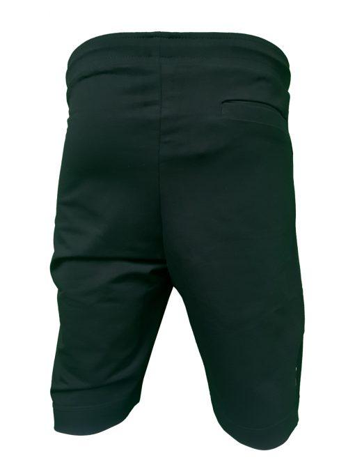 Hugo Boss Tech Jersey Capri Embossed Lined Shorts Black Rear