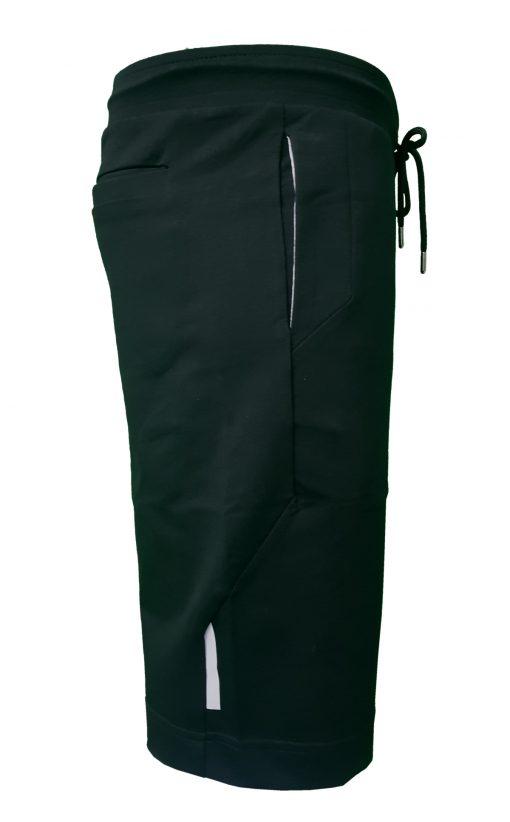 Hugo Boss Tech Jersey Capri Embossed Lined Shorts Black Right Side Black