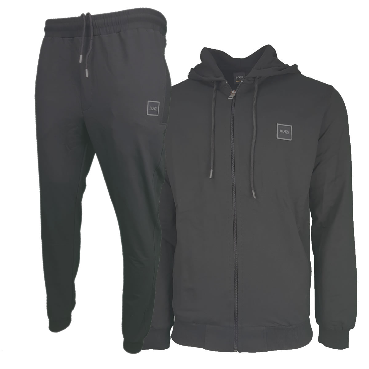 174cdca7a Hugo Boss Pavlik Tracksuit Top Jacket & Bottoms with Contrast Logo in Black